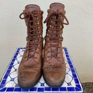 Double HH roper lace up boots